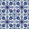 Desenli Kütabya Çini Karo - 10 Mavi Çiçekli Çiçek Desenli Cami Türbe Şadırvan Mihrap Mimber Süsleme Çinisi Ayetli Duvar Çinileri Kütahya Seramik İznik