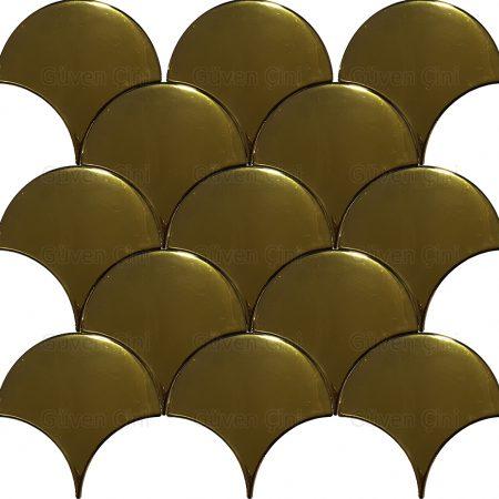 altın kaplama altın suyu ile yapılmış sulu özel balık pulu deseni parlak türk hamamı hamam banyo içi özel pano deseni desenleri restorasyon