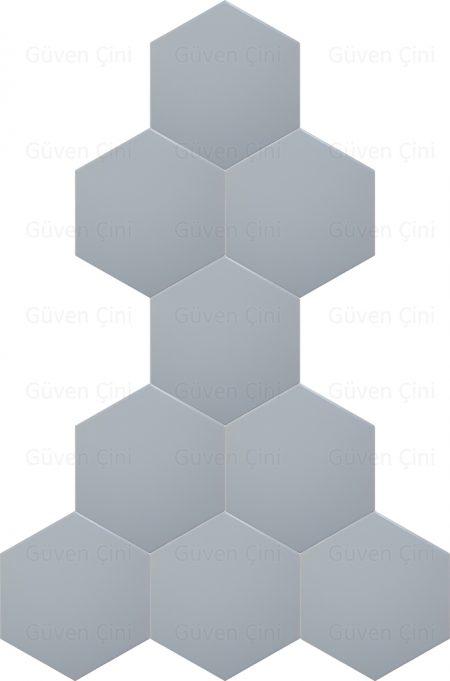 düz beyaz altıgen geometrik çini karo