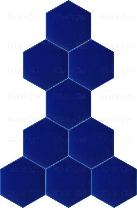 kobalt mavisi açık koyu renkli altıgen çini karo yer için duvar için zemin çinisi hesaplı