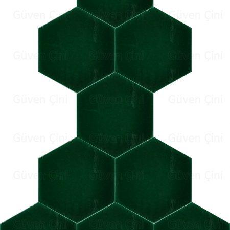 yeşil Altıgen Çini Karo Seramik